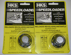 100% De Qualité 2 Pack Hks Mk.3-a Speed Loader 38 Spl 357 Mag Mark 3 Rugers Sécurité Speed Six-afficher Le Titre D'origine