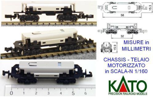 KATO 11-105 CHASIS ACCIONADO MARCO MOTORIZADO mm.58 PROCESAMIENTO DE ESCALA N 1