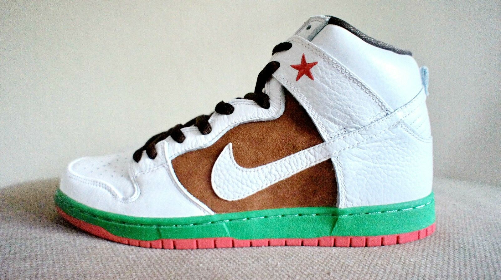 New DS Nike Dunk High Premium SB Pecan White Cali 31st State men sz 11 12 or 13