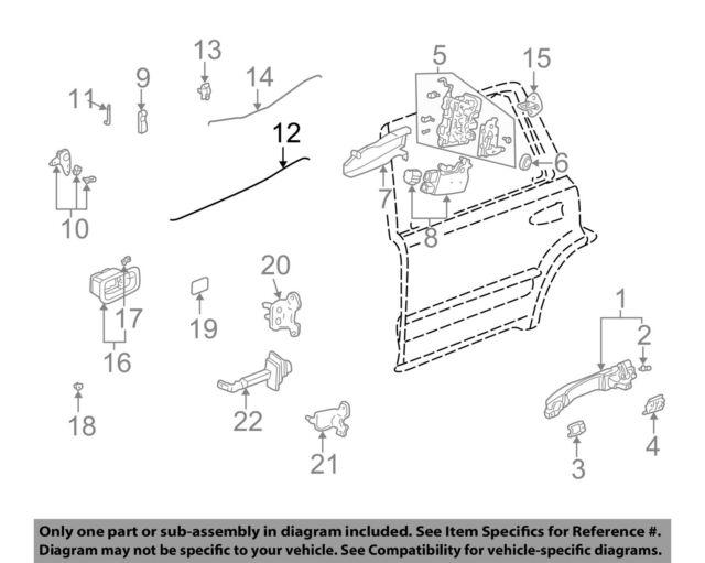 Honda Oem 02 06 Cr V Rear Door Lock Lock Operating Control Rod Left
