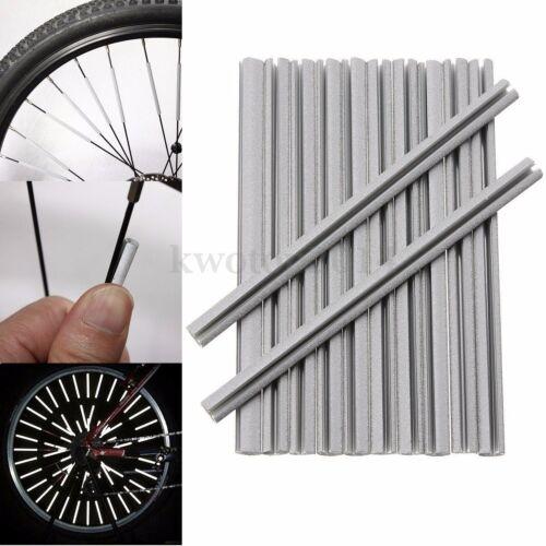 12/36/72Pcs Bicycle Bike Wheel Spoke Reflector Reflective Clip Tube Warning Pipe