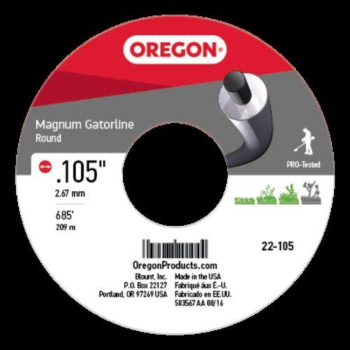 .105in. 3 Lb Part# 22-105 Genuine Oregon  Magnum Gatorline Round
