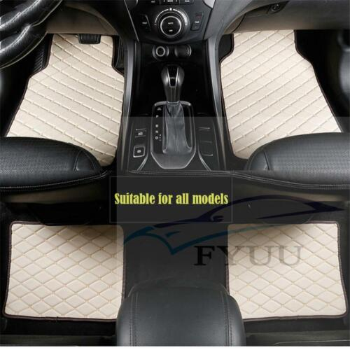 4pcs PU Leather  Car Floor Mats Front Rear Liner Weather Set Car Accessories