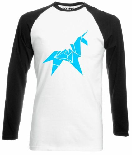 Origami Unicorn Long Sleeve Baseball T-Shirt Blade Runner movie retro scifi 80s
