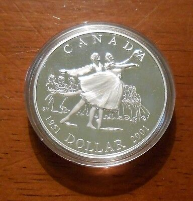 2001 CANADA 50th ANNIVERSARY NATIONAL BALLET PROOF SILVER DOLLAR COIN