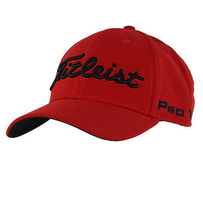 NEW Titleist Dobby Tech Trend Fitted Red//Black M//L Hat Cap