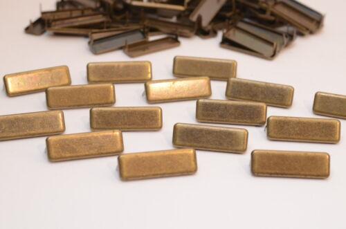 25x Ziernieten // Krallennieten Colonial Gold Rechteckig USA B10 x L30 mm
