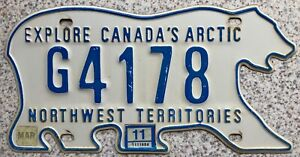 Northwest Territories Canada Bear License Canadian Licence Number Plate G4178