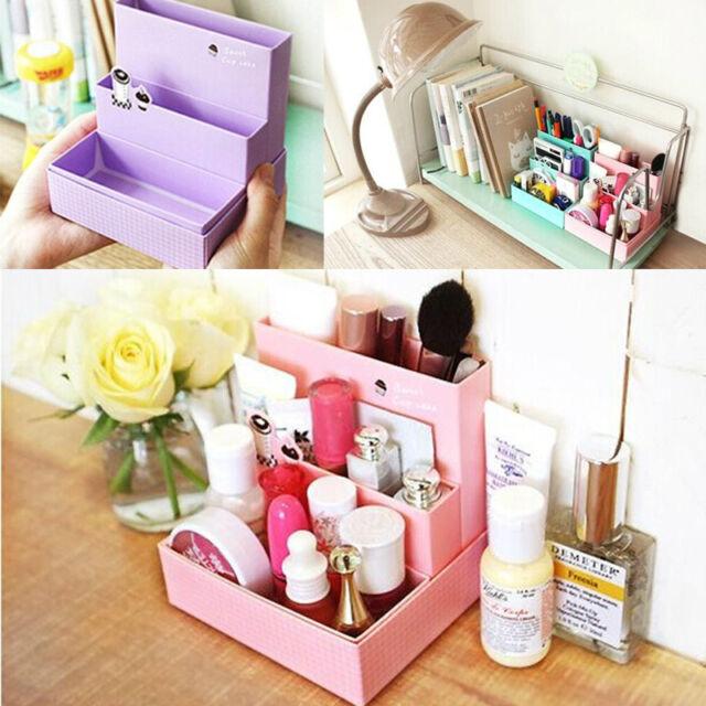 Neu 1Pc DIY Paper Board Aufbewahrungsbox Decor Verfassungs-Kosmetik-Organizer
