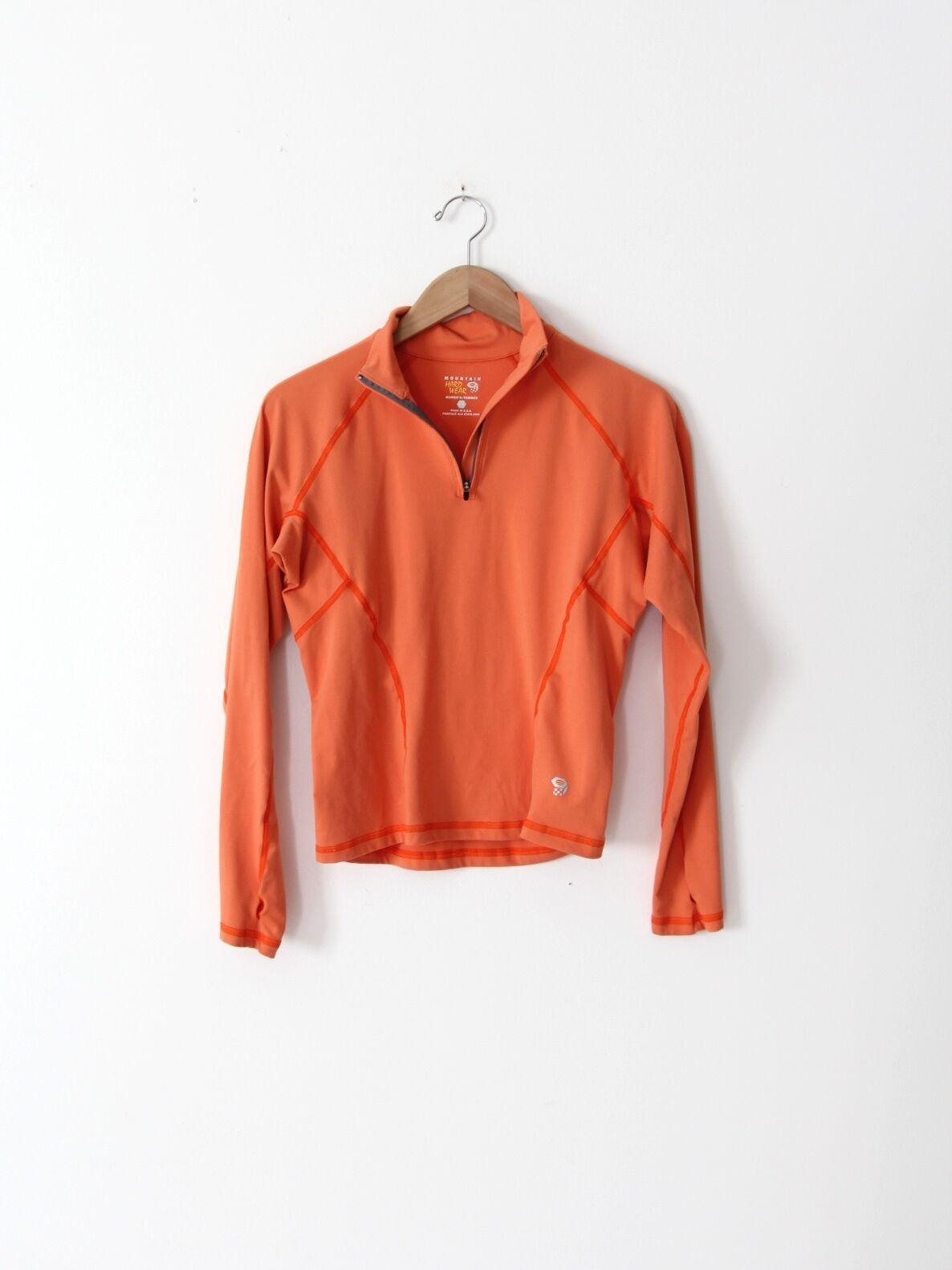 Mountain Hard Wear pullover orange activewear top hiking shirt
