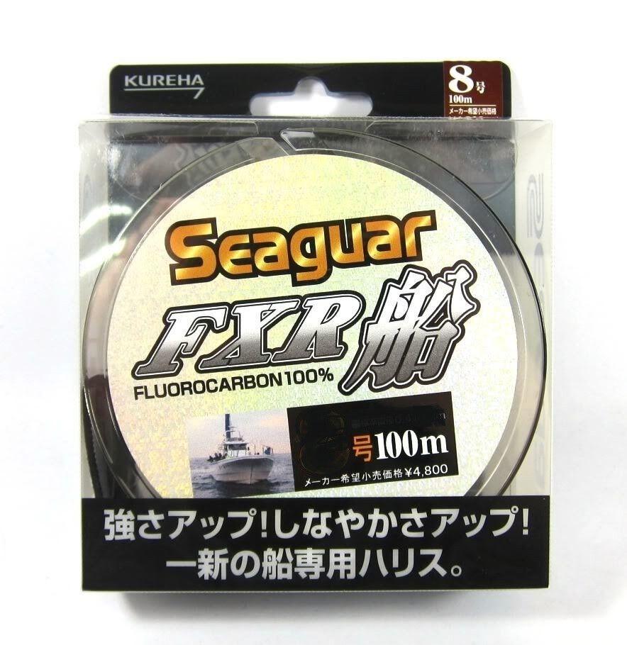 MONOFILO FLUgoldCARBON SEAGUAR FXR 100 MT KUREHA  0,435 MM PESCA 17 KG JAPAN LINE  authentic quality