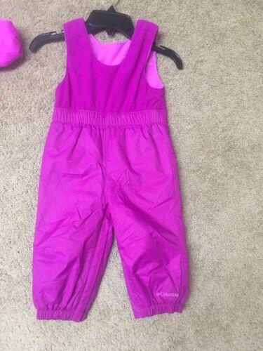 12-18 Mth $130 snowsuit set Pink Sz NWT Columbia Infant Girls  Reversible 2 pc
