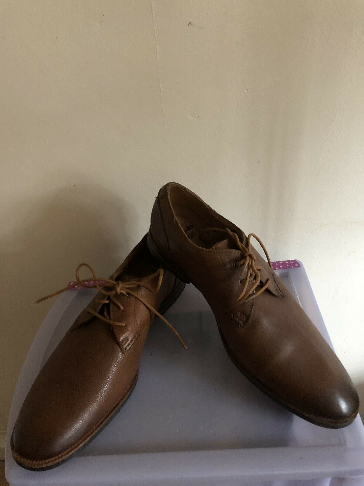 Mens Clarks 1825 Brown Leather Cushion Plus shoes Size Uk 12 G