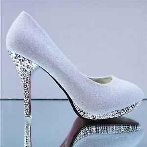 Women-Gorgeous-Wedding-Bridal-Evening-Party-Crystal-sweetly-High-Heels-Shoes