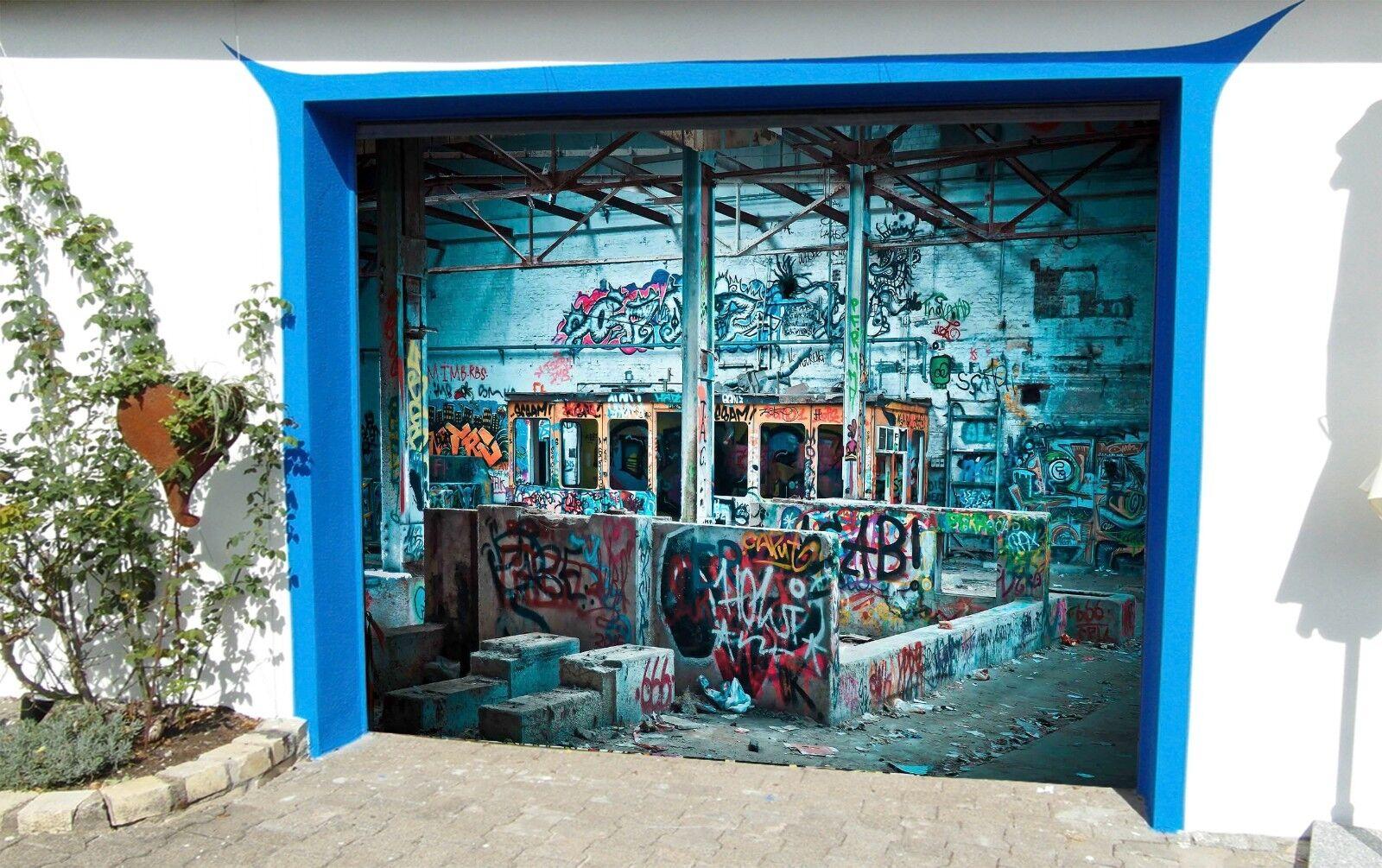 3D Retro Area 932 Garage Door Murals Wall Print Decal Wall AJ WALLPAPER UK Carly