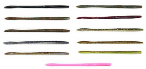 Xzone Deception Worm 6 inch Finesse Worm 15pk Floating Bass Trick Worm