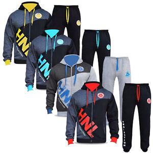 QUALITY-HNL-Mens-Tracksuit-Set-Fleece-Hoodie-Top-Bottoms-Gym-Base-Jogging-Jogger