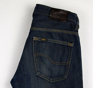 Lee-Hommes-Knox-Decollete-Jeans-Jambe-Droite-Taille-W32-L34-ALZ150