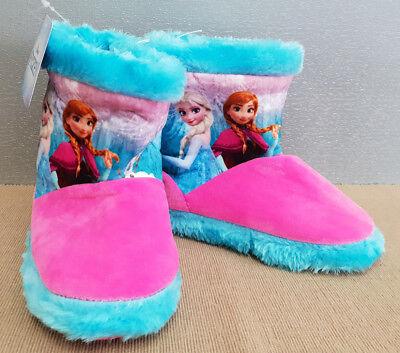 BNWT Little Girls Size 12 Target Brand Disney Frozen Print Fleece Boot Slippers
