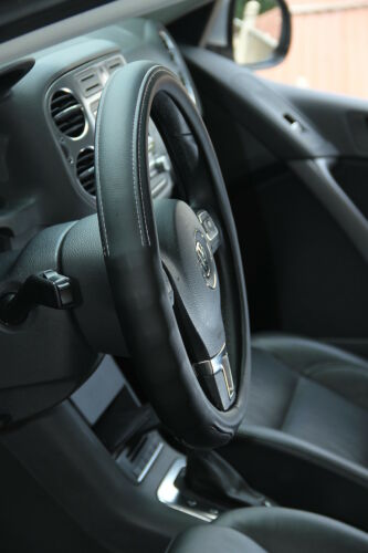 NEW Black PVC Leather Steering Wheel Cover Acura Audi A4 Integra 38cm non-slip