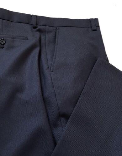 M/&S Da Uomo Performance £ 64 Regular Fit Pantaloni Blu lana Rich W-36 L-29