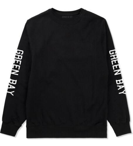 Green Bay Wisconsin Printed Sleeves Crewneck Sweatshirt