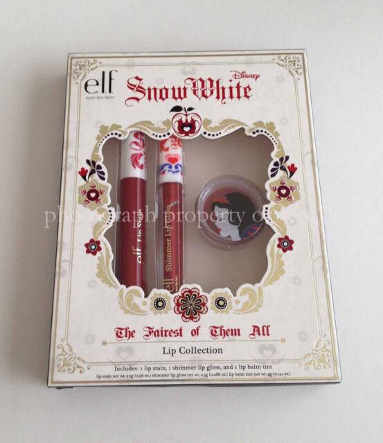 E.L.F. ELF DISNEY SNOW WHITE THE FAIREST OF THEM ALL LIP COLLECTION LTD ED