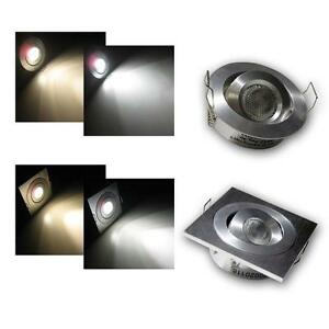 info for 96553 57e25 Details about LED Recessed Spotlights 3W 12V, ceiling Light, downlight,  spotlight round/square