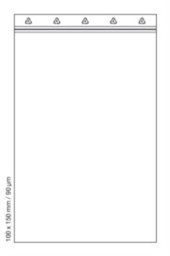 Zip Beutel Tütchen transparent ungefärbt Folienstärke 90µm 40x60 55x65 70x100 ..