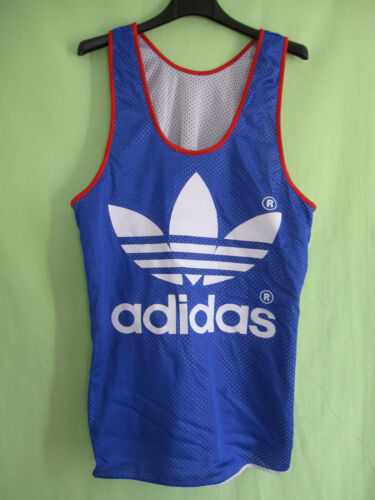 Maillot Adidas Equipe France 80'S Athlétisme running vintage jersey - S