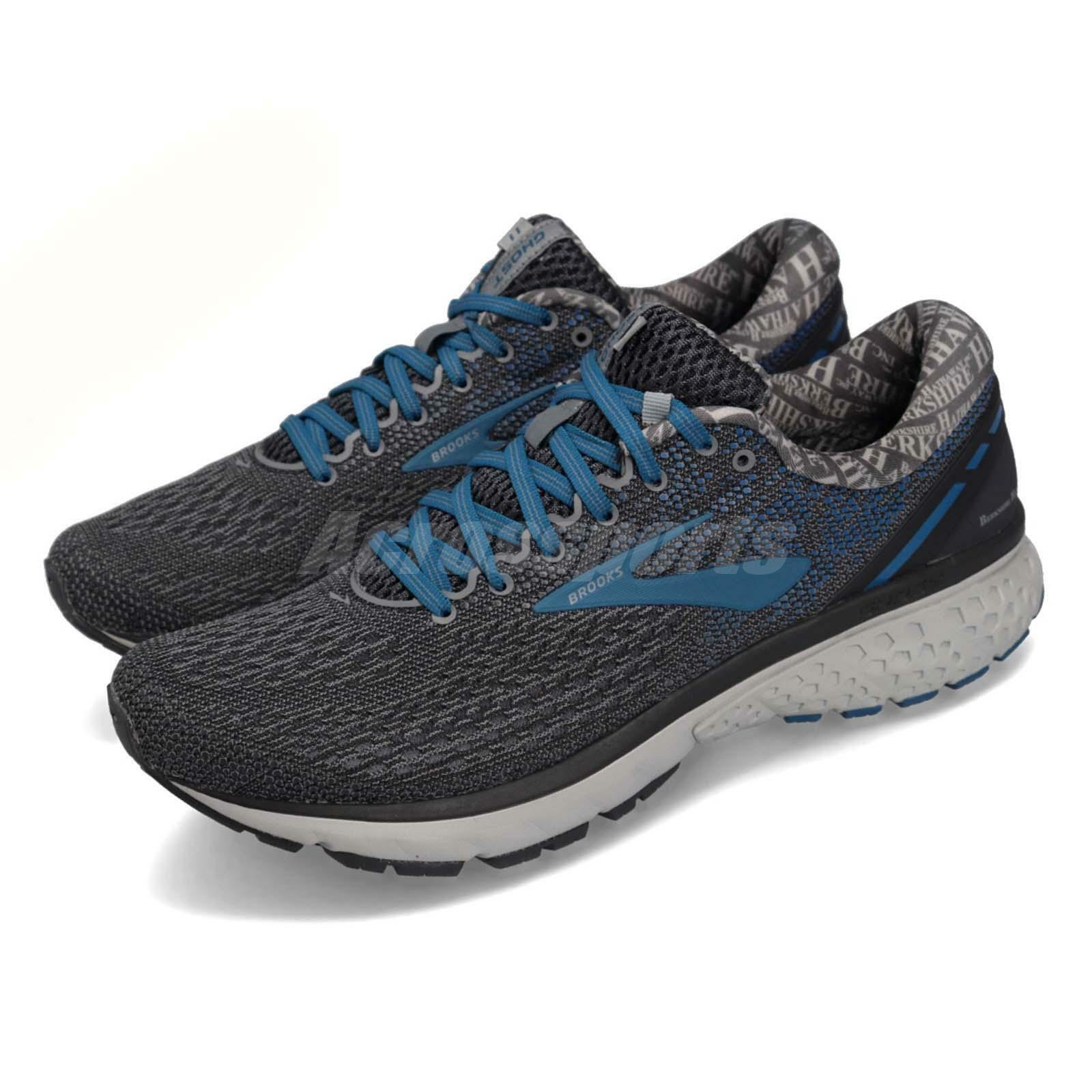 Brooks Ghost 11 Ebony Primer grau Blau Men Running schuhe Turnschuhe 110288 1D
