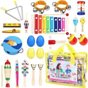 23x Percussion Set Kids Children Musical Instruments Toy Present Band Rhythm Kit