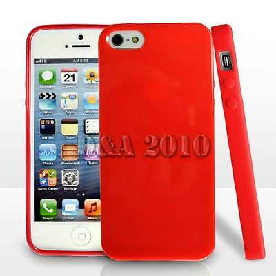 Red soft TPU Frame Bumper Back Case Cover skin PROTECTOR For iphone 5 5s