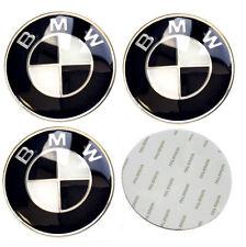 65mm Black BMW Wheel Stickers Badge Fits Alloy Centre Hub Curved Emblem UK