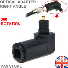 1x Toslink Optical 90° Right Angle Adapter - Male to female - 360° Rotation UK