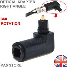 1x toshlink óptico 90 ° ángulo Derecho Adaptador Macho a Hembra - 360 ° de rotación de Reino Unido