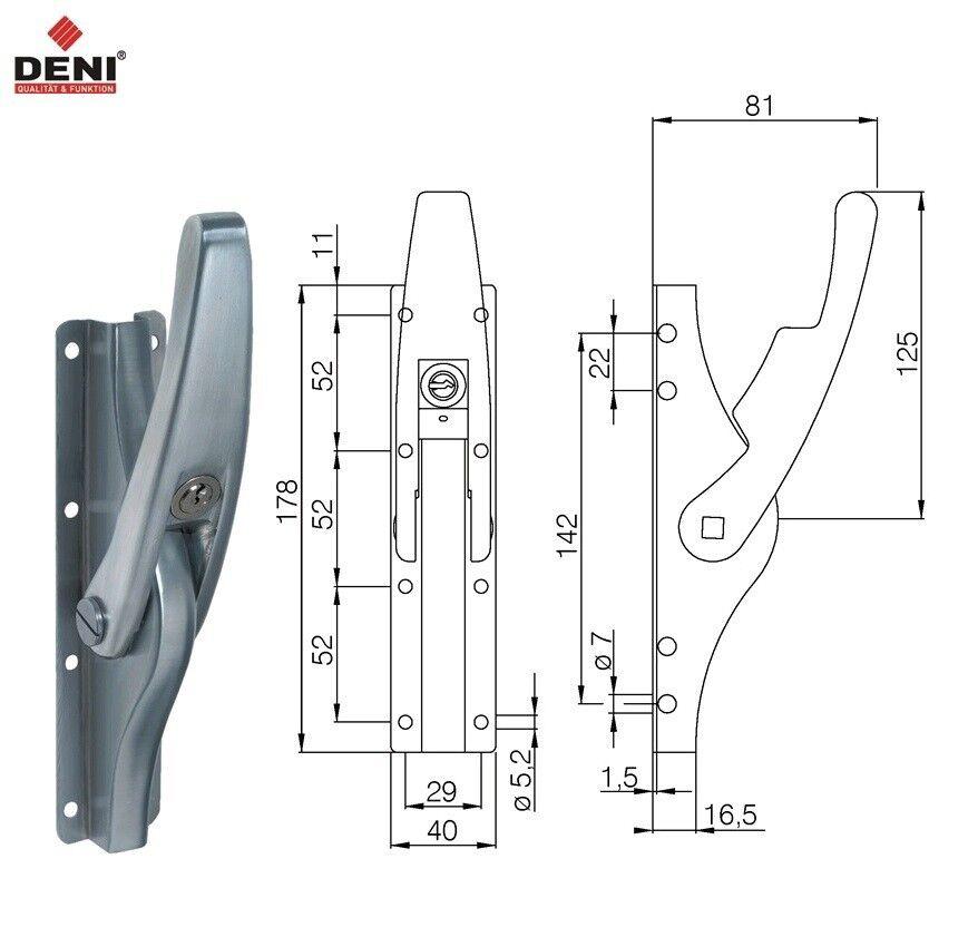 DENI Stangenschlaufe f.Treibriegelstange 10mm STA hell verzinkt