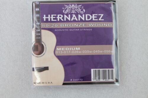 NEU 2 Sätze Hernandez 80//20 Bronze Akustik Gitarrensaiten Medium 224773 013-056