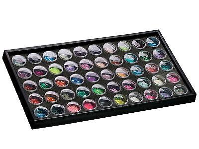 Nailart Präsentationsdisplay mit 50 Döschen Display Aufbewahrung Nail Art Box