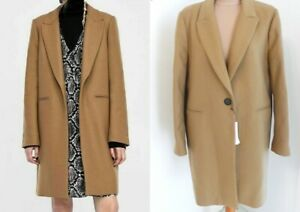 Details Zara Woman Camel Mantel Wolle Zu Brown Wool 3057255 Coat D9HE2I