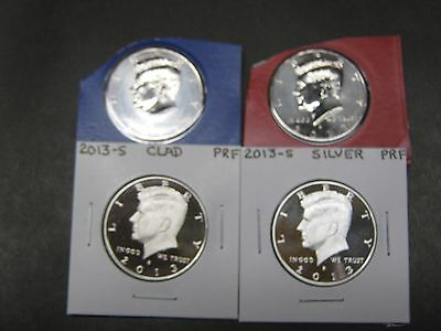 2018  P D S CLAD S SILVER PROOF KENNEDY HALF DOLLARS 4 Coins