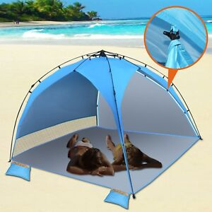 e174d49dfe56 8x8x5  Large Camping Tent Portable Pop up Beach Canopy Sunshade ...
