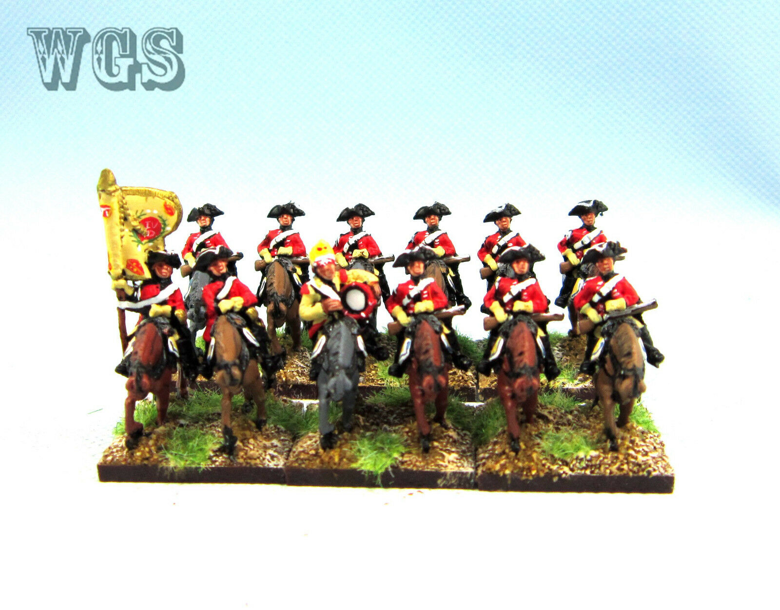 15mm Syw Seven Years War un Pintado Dragones británica 11th (12 figuras) BB5