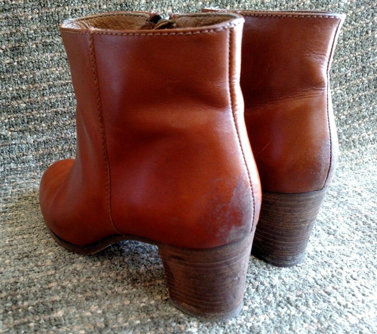 J.Crew Italian Saddle Leder high-heeled zip up ankle boots Größe 8