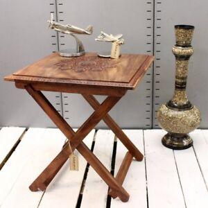 Kun-Square-Folding-Table-Top-Sheesham-Wood-Side-Table-Bedroom-Hallway