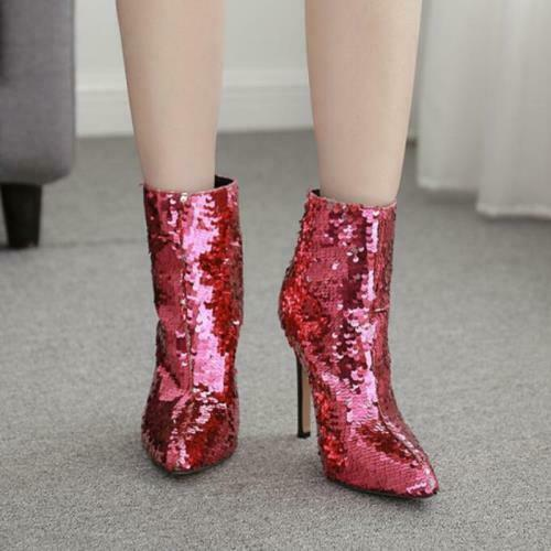 Details about  /Women Ankle Boots Pointy Toe Stilettos High Heel Shoes Pumps 35//42 Nightclub D