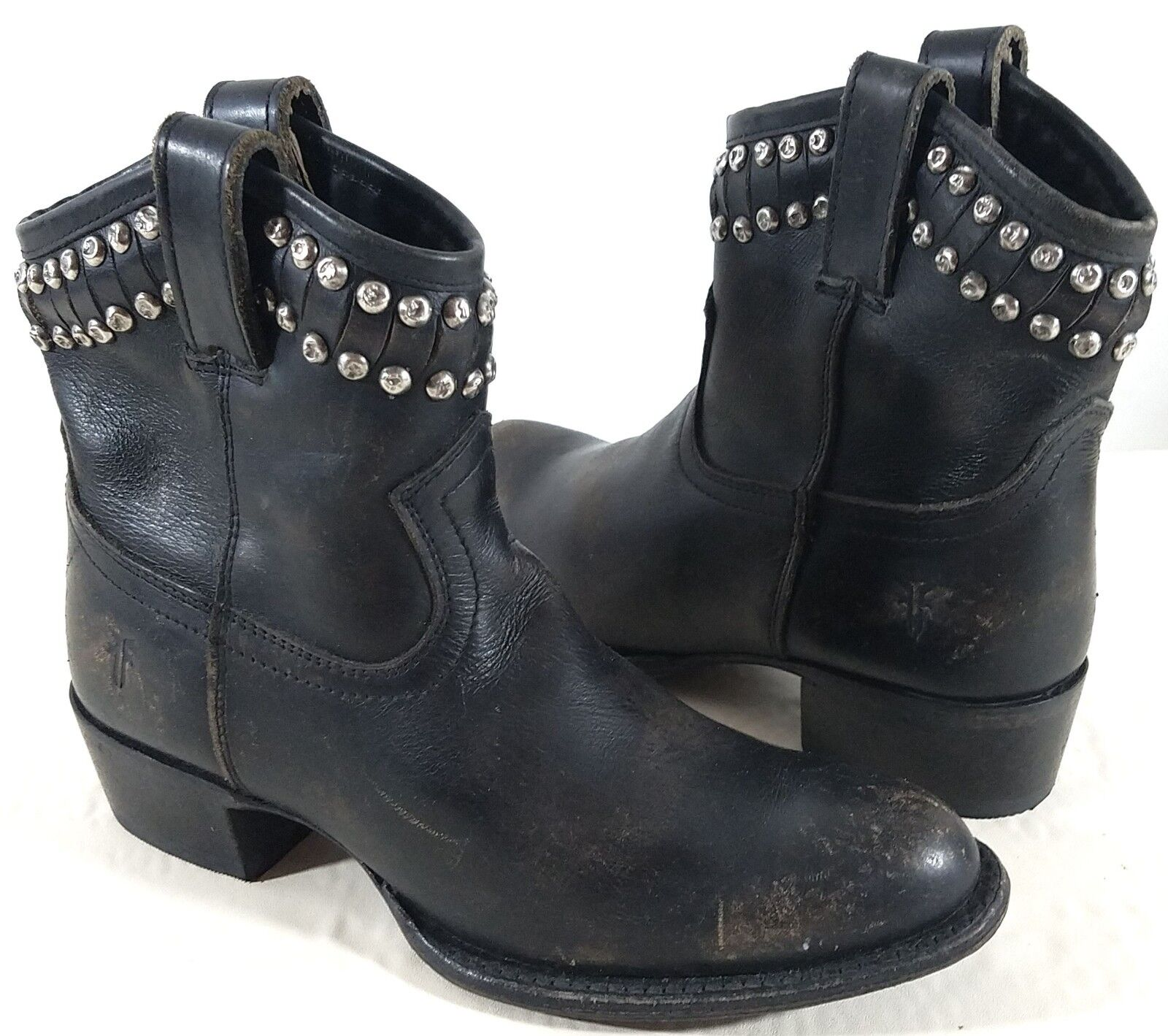 Frye Diana Cut Stud Short Black Booties Size: US 6 Regular (M, B)
