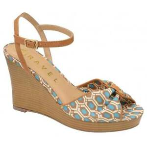 Ladies-Ravel-Beatrice-Comfortable-Summer-Dress-Wedge-Sandals-Aqua-UK-7