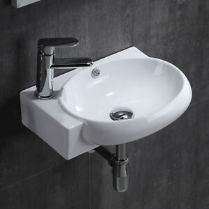 Peachy Details About Round Washing Basin Sink Small Bathroom Compact Cloakroom Corner Wall Mounted Download Free Architecture Designs Grimeyleaguecom