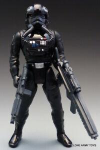"LOOSE TIE fighter pilot Star Wars 3.75 inch/"" figure POTF2 imperial clone trooper"